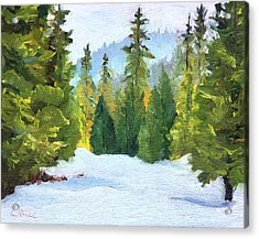 Winter Wandering Acrylic Print