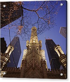 Winter Water Tower Chicago Il Acrylic Print