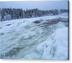 Winter Waterfall Acrylic Print