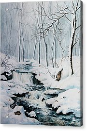 Winter Whispers Acrylic Print by Hanne Lore Koehler
