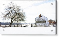 Winter White Out Acrylic Print
