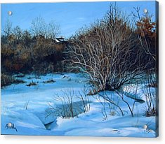 Winter Acrylic Print by William  Brody