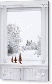 Winter Window Acrylic Print by Amanda Elwell