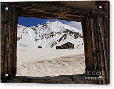 Winter Window View Acrylic Print