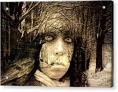 Winter Witch Acrylic Print