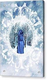 Winter Woman Acrylic Print by Amanda Elwell