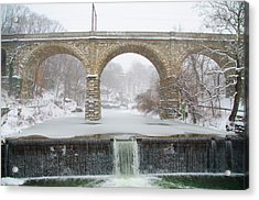 Winter Wonderland Along The Wissahickon Creek Acrylic Print by Bill Cannon