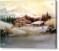 Acrylic Print featuring the painting Winter Wonderland  by Hazel Holland