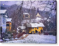 Winter Wonderland In Mondsee Austria  Acrylic Print by Carol Japp