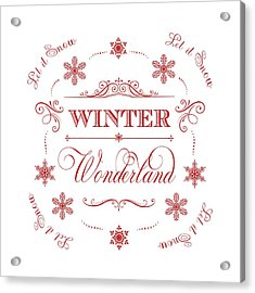 Winter Wonderland Let It Snow Acrylic Print by Antique Images