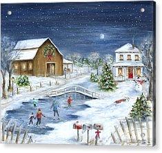 Winter Wonderland Acrylic Print by Marilyn Dunlap
