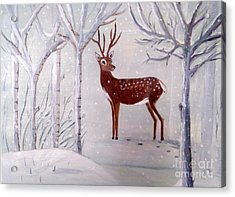 Winter Wonderland - Painting Acrylic Print