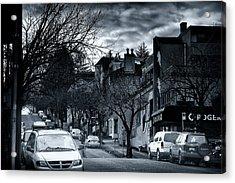 Winter Yew Street Acrylic Print by Paul Kloschinsky