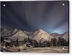 Winterevening In The Mountains Acrylic Print