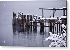 Winterized Acrylic Print by Albert Seger