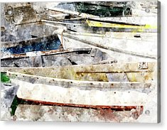 Winterport Dories Wc Acrylic Print by Peter J Sucy