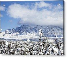 Acrylic Print featuring the photograph Organ Mountains Winter Wonderland by Kurt Van Wagner