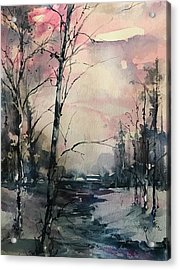 Winter's Blush Acrylic Print by Robin Miller-Bookhout
