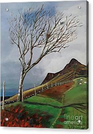 Winter's Day At Yewbarrow -painting Acrylic Print