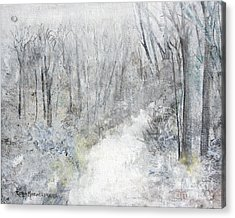Acrylic Print featuring the painting Winter's Day by Robin Maria Pedrero