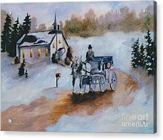 Acrylic Print featuring the painting Winters Dream by Brenda Thour