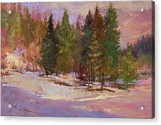 Winter's Eve Plein Air Acrylic Print