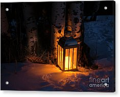 Acrylic Print featuring the photograph Winter's Eve by The Forests Edge Photography - Diane Sandoval