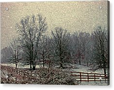 Winter's First Snowfall Acrylic Print