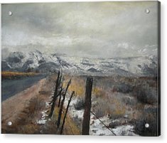 Winter's Glow Acrylic Print by Anita Stoll