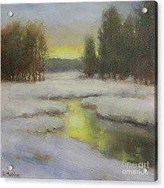 Winter's Glow Acrylic Print by Lori McNee