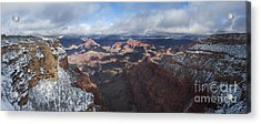Winter's Grasp At The Grand Canyon Acrylic Print by Sandra Bronstein