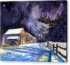 Winter's Grip Acrylic Print by Paul Temple