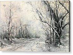 Dee Street Series Winter Wonderland Acrylic Print