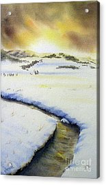 Winter's Light Acrylic Print