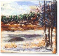 Winter's Light Acrylic Print by Sandy Sereno
