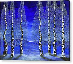 Winters Raven Aspen Acrylic Print