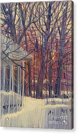 Winter's Snow Acrylic Print by Donald Maier