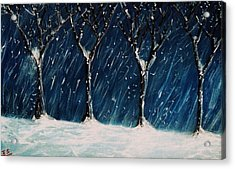Winter's Snow Acrylic Print by John Scates