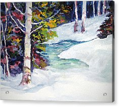 Winter's Solace Acrylic Print by Mary Sonya  Conti