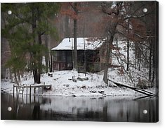Winters Touch - Best Seller - Artist Cris Hayes Acrylic Print by Cris Hayes