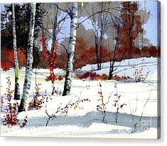 Wintertime Painting Acrylic Print