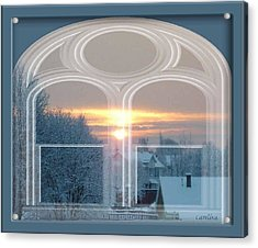 Winterview From My Window Acrylic Print by Carola Ann-Margret Forsberg