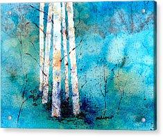 Wintry Aspen Acrylic Print