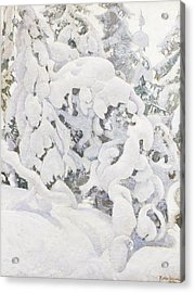 Wintry Landscape Acrylic Print