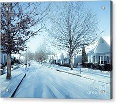 Wintry Snow Fall - Georgia Acrylic Print