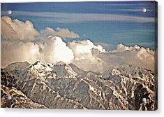 Wintry Wasatch Range Acrylic Print by Steve Ohlsen