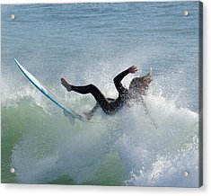 Wipe Out - California Surfer Acrylic Print