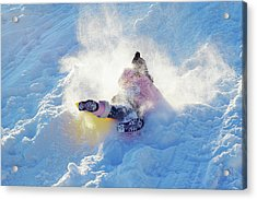Wipe Out Acrylic Print by Randy Steele