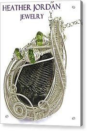 Wire-wrapped Trilobite Fossil Pendant In Sterling Silver With Peridot Trilss6 Acrylic Print