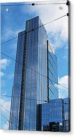 Acrylic Print featuring the photograph Wired In Seattle - Skyscraper Art Print by Jane Eleanor Nicholas